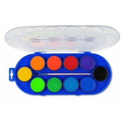 Vodové barvy PRIMO Jumbo 10 x 44 mm + štětec - 2