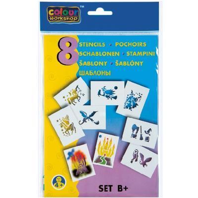 Foukací fixy BLOpens Magic na papír  Sada 4+2 ks + šablony - 2