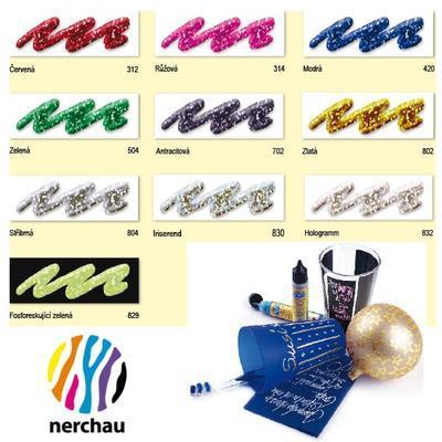 Nerchau Glitter Liner 28 ml - zelená - 2