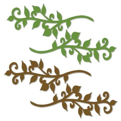 Výřez - Větvičky, zelené a hnědé - 2