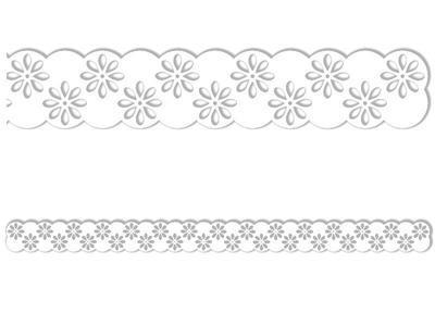 Výřez Bordura - Květina 2, 8 ks - 2