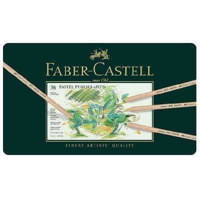 Faber-Castell Pastelky PITT PASTEL - 36 ks v kovové etui - 2