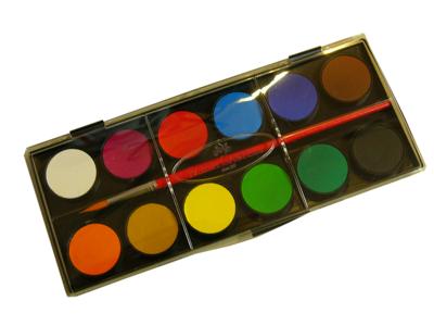 Faber-Castell Vodové barvy - 12 ks, paleta + štěteček, 30 mm - 2