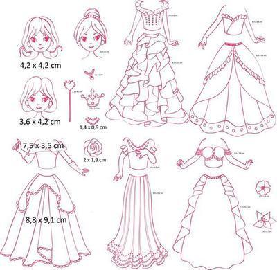 StampoFashion Převlékací panenky - Princezny základní sada - 2