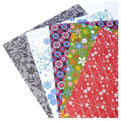 Papíry na origami 15x15 cm - 50 listů motiv Ornamental - 2