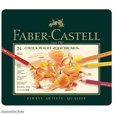 Faber-Castell Pastelky Polychromos - 24 ks plechová krabička - 2