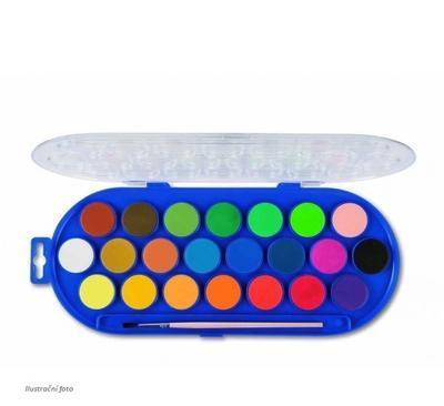 Vodové barvy PRIMO, průměr 30mm, 22ks + štětec - 2