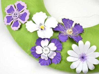 Výřez - Květiny, světlá/tmavá, 32 ks - 3