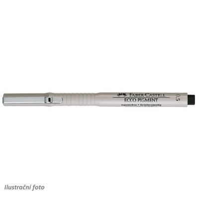 Faber-Castell Popisovač ECCO PIGMENT - 0,5mm černý - 3