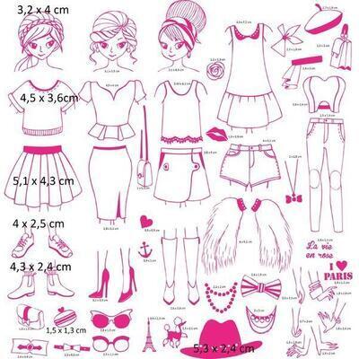 StampoFashion Převlékací panenky - Holky z města - 3