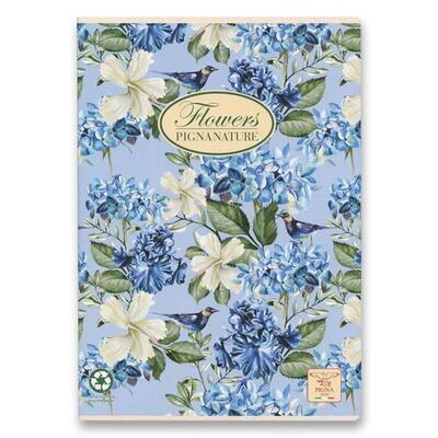 Školní sešit PIGNA A4, čistý, 40 listů - Nature Flowers  - 3