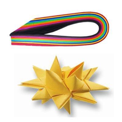 Dekorační papírové proužky pro výrobu hvězd - 35x1cm, 100ks - 3