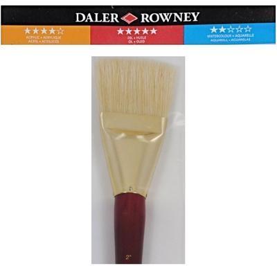 """Daler & Rowney Simply Natural White Bristle -  Štětec velikosti 2"""" - 3"""