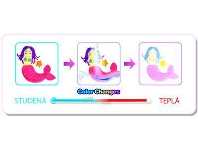 Think Doh Silikonová modelína měnící barvu - vanilka/bílá - 3
