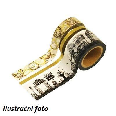 Dekorační lepící páska - 3 ks, motiv Cestování v čase - 3