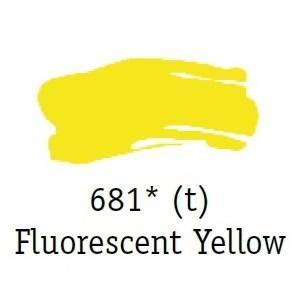 Daler & Rowney - System 3 Original - florescent yellow 681, tuba 75ml - 3