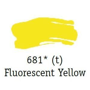 Daler & Rowney - System 3 Original - florescent yellow 681, tuba 75ml - 3