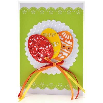 Výřez - Velikonoční vajíčka s květy, 8 ks - 3