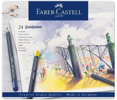 Faber-Castell Pastelky Goldfaber - 24 ks v plechu - 3