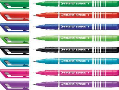 Stabilo SENSOR  Liner inkoustový F, barva černá - 3