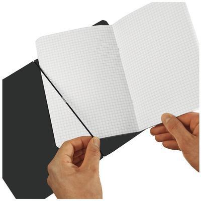 Sešit flex A4, 40listů, kožený, čtverečkovaný - hnědý - 3