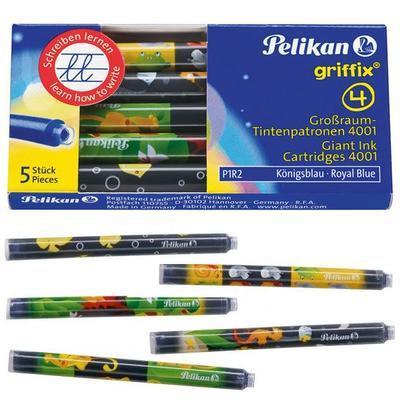 Pelikan Inkoustové bombičky Griffix 4 - královská modrá, 10 ks - 3