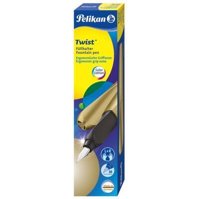 Pelikan Twist Bombičkové pero M - Pure Gold - 3