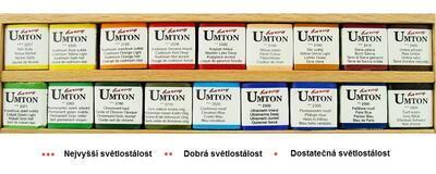 Akvarelové barvy v dřevěné kazetě - 18x2,6ml + porcelánová paleta - 3