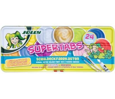 JOLLY SuperTabs  Vodové barvy, 24 barev v kovovém pouzdře  - 3