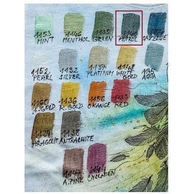 Dora Textile 50ml - petrolejová modrá - 3