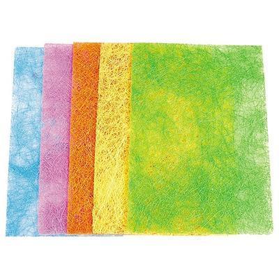 Sisalový papír A4, 135 g/m2 - pastelový se třpytkami, 5 ks - 3