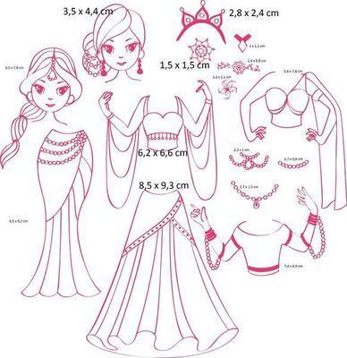 StampoFashion Převlékací panenky - Princezny z Orientu - 3