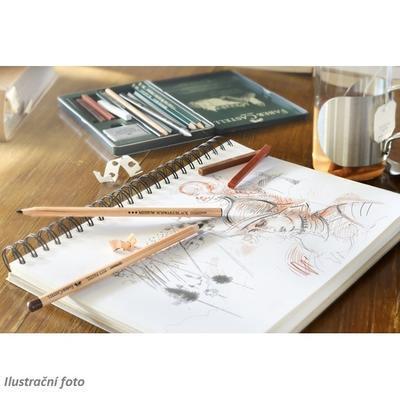 Faber-Castell Sada PITT Monochrome - 12 ks v kovové etui - 3