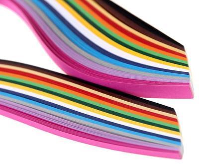 Proužky papírové pro Quilling - mix barev, 280ks - 3