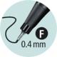 Stabilo point 88/45 - hnědá - 0,4 mm - 3/7