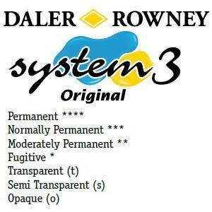Daler & Rowney - System 3 Original - fluorescent blue 100 - tuba 75ml - 3