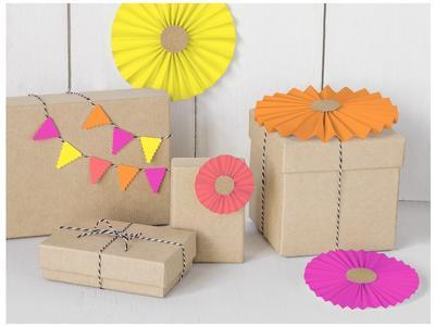 Blok barevných papírů, A4, 10 listů / neon - 3