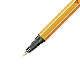 Stabilo point 88/024 - fluorescentní žlutá - 0,4 mm - 3