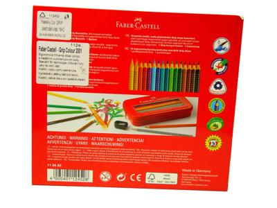 Faber-Castell Pastelky Colour Grip - 16 ks + tužka + ořezávátko v kovové etui - 3
