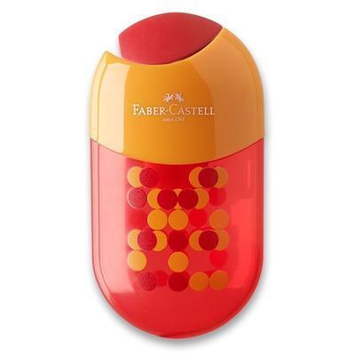 Faber-Castell ořezávátko dvojité s pryží a zásobníkem mix barev - 3
