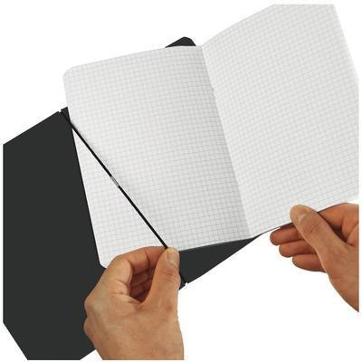 Sešit Flex A5/40 listů, čtverečkovaný - kožený, hnědý - 3
