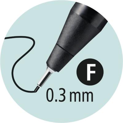 Stabilo SENSOR  Liner inkoustový F, barva světle zelená - 3