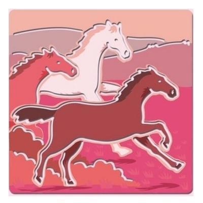 Djeco Šablony Koně - 5ks - 3