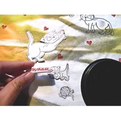 StampoTextile, Razítka na textil - Kočky - 3