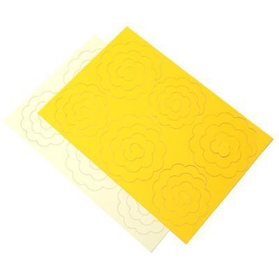 Výřez  Stáčené květiny - žlutá/vanilková - 3