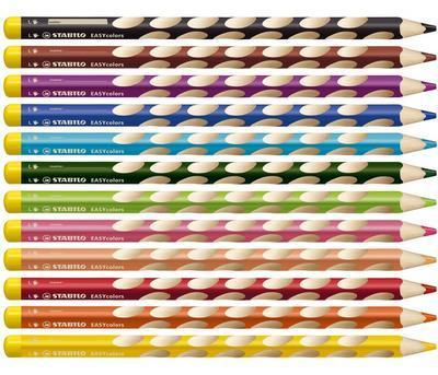 Stabilo EASYcolors 331/12 Pastelky pro leváky  Sada  12 ks + ořezávátko - 3
