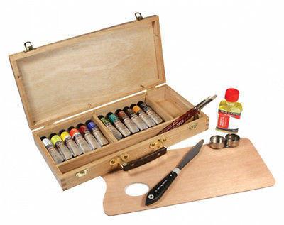 Daler&Rowney Georgian Oil Umělecká sada olej barev v dřevěné kazetě - 3