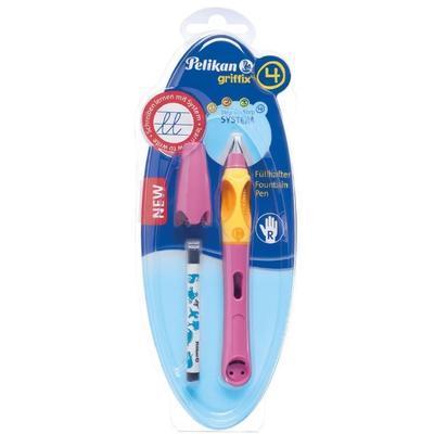 Pelikan Bombičkové pero Griffix 4 pro praváky - malinové/oranžové - 3