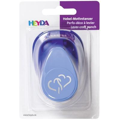 HEYDA Děrovač (raznice) modrý 22 mm - Dvě srdce - 3