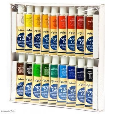 Sada barev Akrylic Colors el GRECO - 18x12 ml - 3